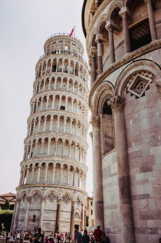 Pisa italija kosi toranj